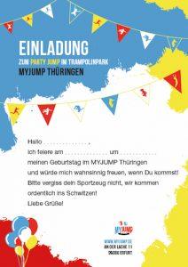 MYJUMP – Thüringen, Erfurt Einladungskarte
