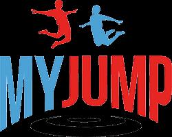 Logo von MYJUMP in Blau und Rot